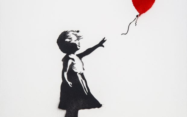Banksy, Girl and Balloon, 2003