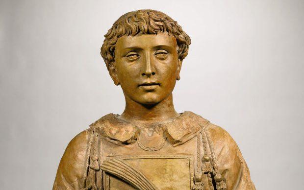 Donatello, San Lorenzo, verso il 1440, terracotta già dipinta, Parigi, collezione Peter e Kathleen Silverman