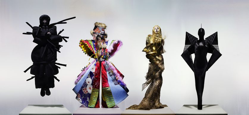 Moncler Genius by Craig Green, Dior Couture by John Galliano & Gareth Pugh, 'The Knights of Knightsbridge'. Credit Nick Knight, Courtesy of The Knightsbridge Estate.