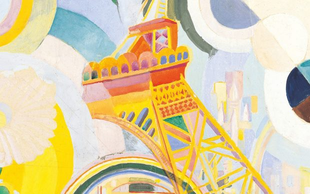 Robert Delaunay, Air, Iron and Water. Study for a mural, 1936–1937 Gouache on paper and wood, 47 x 74.5 cm Albertina, Wien. Batliner Collection