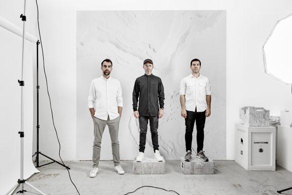 Snarkitecture; Alex Mustonen, Daniel Arsham, Benjamin Porto. Photo by Noah Kalina