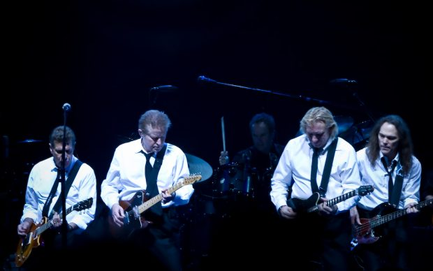 The Eagles band from California. From left to right are: Glenn Frey, Don Henley, Joe Walsh, and Timothy B. Schmit during their Long Road out of Eden Tour in 2008.