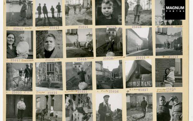 Werner Bischof NETHERLANDS.1945. Original contact sheet.