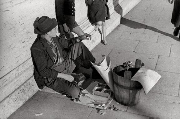 Cesare Barzacchi, L'olivaro di Ponte Garibaldi, Roma, 1939 © Eredi Cesare Barzacch