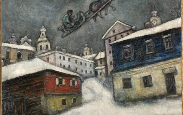Marc Chagall, Russian village, 1929. Private Collection, Swiss © Chagall®, by SIAE 2018