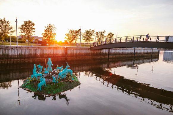 Passages Insolites 2018, Demers-Mesnard (Québec): Happy Castaways. Photo: Stéphane Bourgeois