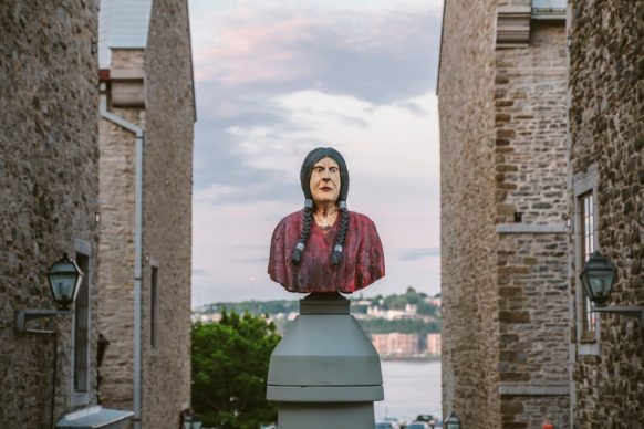 Passages Insolites 2018, Jean-Robert Drouillard (Québec): A Monument for Mary Ann. Photo: Stéphane Bourgeoisment for Mary Ann.