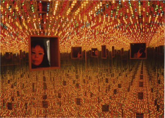 Yayoi Kusama, Infinity Mirrored Room-Love Forever, 1966/1994. Installation view, YAYOI KUSAMA, Le Consortium, Dijon, France, 2000. Image © Yayoi Kusama. Courtesy of David Zwirner, NewYork; Ota Fine Arts, Tokyo/Singapore/Shanghai; Victoria Miro, London; YAYOI KUSAMA Inc.