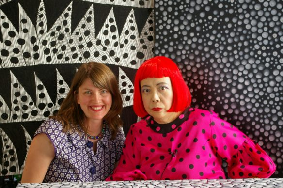 Director Heather Lenz and artist Yayoi Kusama in KUSAMA - INFINITY. © Tokyo Lee Productions, Inc. Courtesy of Magnolia Pictures.