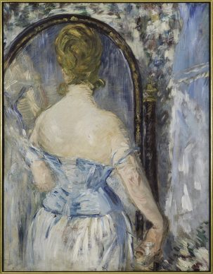 Édouard Manet, Before the Mirror (Devant la glace), 1876. Solomon R. Guggenheim Museum, New York Thannhauser Collection, Gift, Justin K. Thannhauser 78.2514.27 Photo: © Solomon R. Guggenheim Foundation, New York (SRGF)