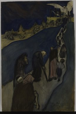 Pablo Picasso, The End of the Road (Au bout de la route), Barcelona, ca. 1899–1900. Solomon R. Guggenheim Museum, New York Thannhauser Collection, Gift, Justin K. Thannhauser 78.2514.33 © Sucesión Pablo Picasso, VEGAP, Madrid, 2018 Photo: © Solomon R. Guggenheim Foundation, New York (SRGF)