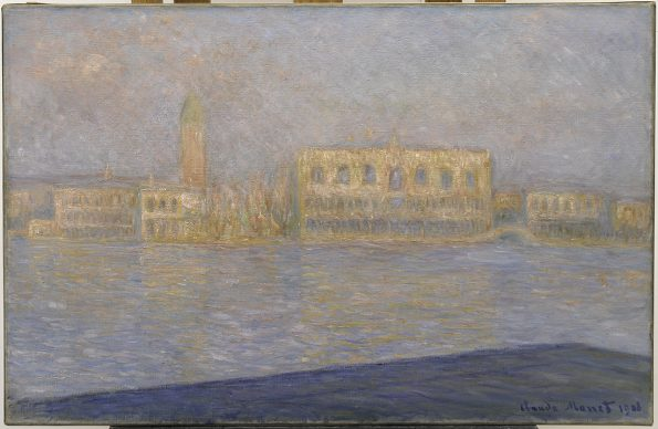 Claude Monet, The Palazzo Ducale, Seen from San Giorgio Maggiore (Le Palais Ducal vu de Saint-Georges Majeur), 1908. Solomon R. Guggenheim Museum, New York Thannhauser Collection, Bequest, Hilde Thannhauser 91.3910 Photo: © Solomon R. Guggenheim Foundation, New York (SRGF)