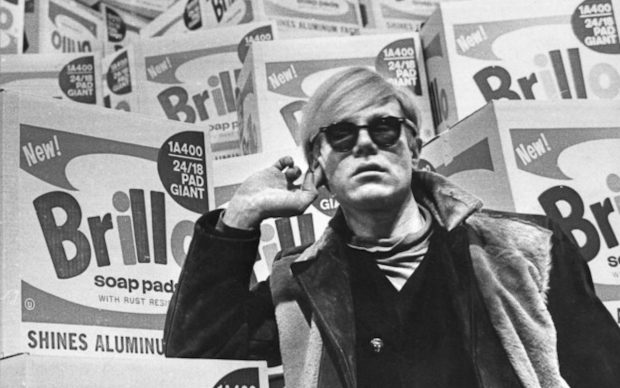 Andy Warhol in the exhibition at Moderna Museet in 1968. Photo: Lasse Olsson/Pressens bild.