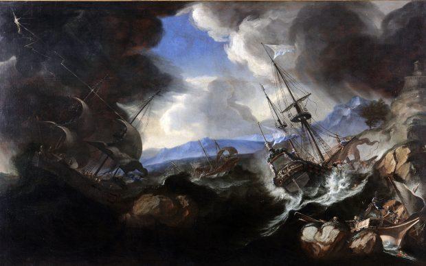 Biagio Poli, Tempesta marina, 1650-1680 circa, Mantova, Complesso Museale Palazzo Ducale