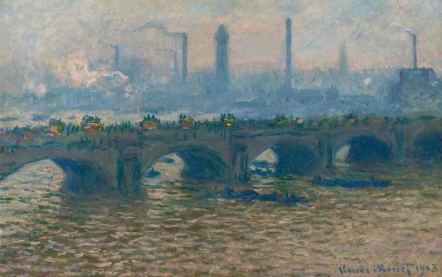 Claude Monet, Il ponte di Waterloo, nuvoloso, 1903, Olio su tela, 65x100,5 cm. Ordrupgaard, Copenhagen © Ordrupgaard, Copenhagen. Photo by Anders Sune Berg