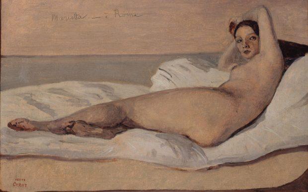 Camille-Jean-Baptiste Corot, Marietta ou Odalisque Romaine, 1843. MusÈe des Beaux-Arts de la Ville de Paris, Petit Palais