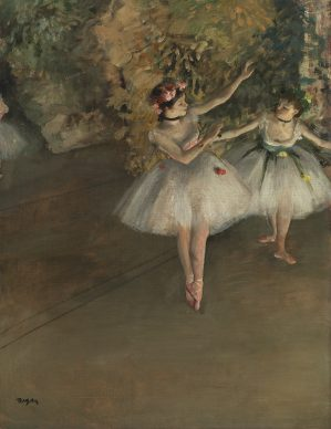 Hilaire-Germain-Edgar Degas, Two Dancers on a Stage, 1874 © The Samuel Courtauld Trust, The Courtauld Gallery, London