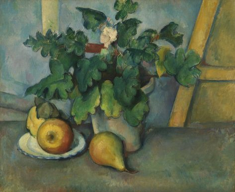 Paul Cézanne, Pot of Primroses and Fruit, about 1888-90 © The Samuel Courtauld Trust, The Courtauld Gallery, London