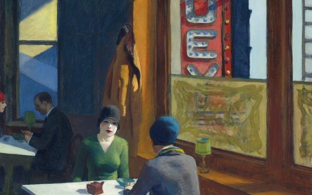 EDWARD HOPPER (1882-1967), Chop Suey, oil on canvas, 32 x 38 in. Painted in 1929. Estimate in the region of $70 million (Photo: Business Wire)