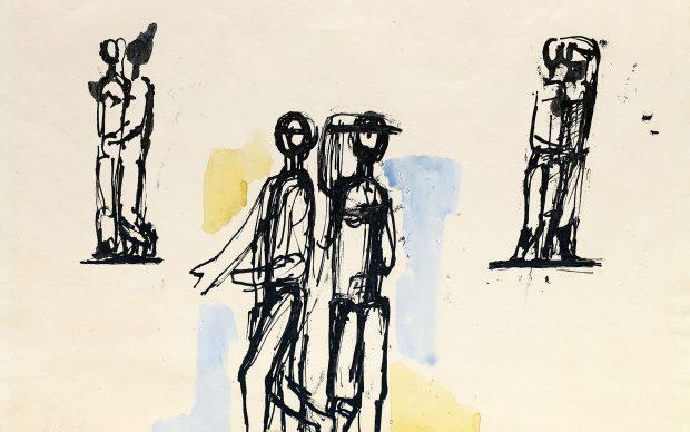 Fritz Wotruba Studio, 1953-1955 Inchiostro e acquarello su carta 477 x 570 mm Galerie Tanglberg – Sammlung Zeichnung Tanglberg, Vorchdorf