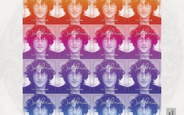 John-Lennon-francobollo-commemorativo-USA-Postal-Service