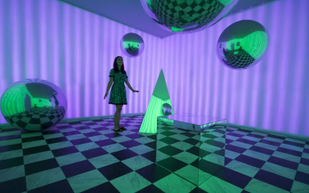 Magenta Field, Reality Rendered in 29Rooms. Photo by Katherine Brice, courtesy of Magenta Field