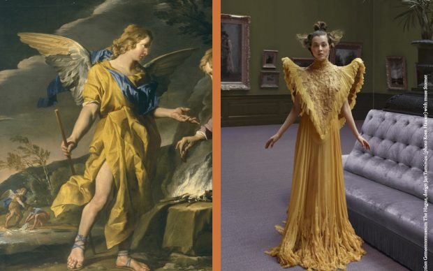 2018 MASTERLY THE HAGUE - Collection Gemeentemuseum The Hague 2 - Couture Dress by Jan Taminiau with muse Matthias Stomer (Photo Koen Hauser)