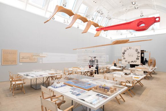 Installation view of the 'Renzo Piano: The Art of Making Buildings' exhibition at the Royal Academy of Art, London (15 September 2018 - 20 January 2019) © David Parry / Royal Academy of Arts. Exhibition organised by the Royal Academy of Arts, London, in collaboration with Renzo Piano Building Workshop and the Fondazione Renzo Piano