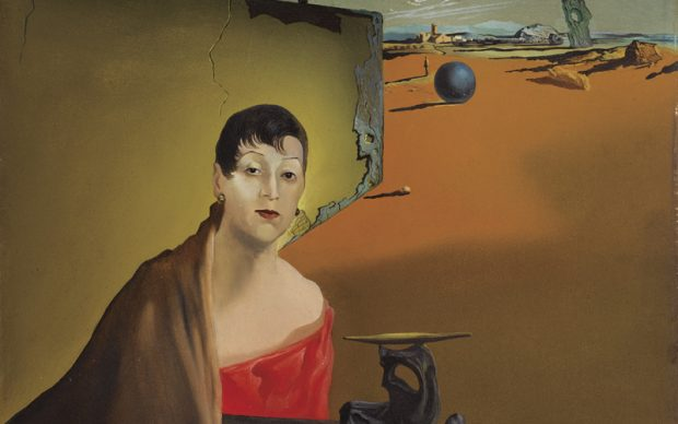 Salvador Dalí (Spanish, 1904–1989) Portrait of Madame Ducas, 1935 Oil on panel 16 1/4 x 13 in. (41.2 x 33 cm) © Salvador Dalí, Fundació Gala-Salvador Dalí, (ARS), 2018. Private Collection