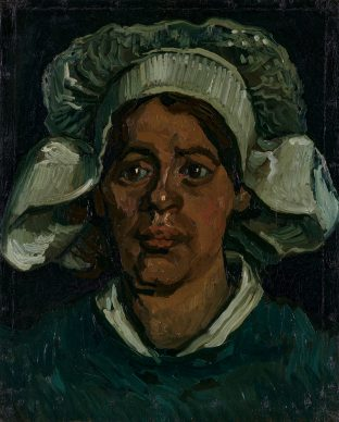 Vincent van Gogh, Head of a woman with white cap, 1884-85. Coll. Kröller-Müller Museum, Otterlo
