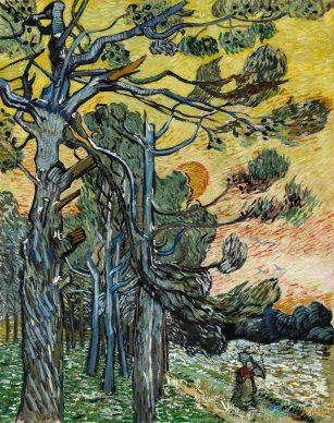 Vincent van Gogh, Pine trees at sunset, 1889. Coll. Kröller-Müller Museum, Otterlo