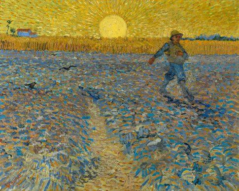 Vincent van Gogh, The sower, 1888. Coll. Kröller-Müller Museum, Otterl