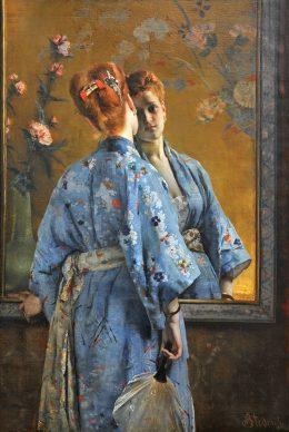 Alfred Stevens, Die japanische Pariserin, 1872, Musée des Beaux-Arts de La Boverie, Lüttich © Musée des Beaux-Arts de La Boverie, Lüttich