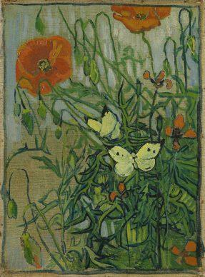 Vincent van Gogh, Schmetterlinge und Mohnblumen, 1889, Van Gogh Museum, Amsterdam (Vincent van Gogh Foundation)
