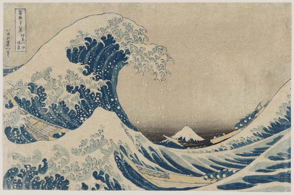 Katsushika Hokusai, La (grande) onda presso la costa di Kanagawa, dalla serie Trentasei vedute del monte Fuji, 1830-1831, Museum of Fine Arts, Boston - Nellie Parney Carter Collection - Bequest of Nellie Parney Carter
