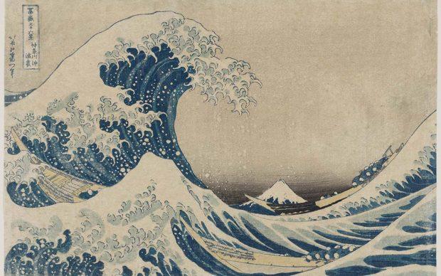 Katsushika Hokusai La [grande] onda presso la costa di Kanagawa, dalla serie Trentasei vedute del monte Fuji 1830-1831 circa silografia policroma. Museum of Fine Arts, Boston - Nellie Parney Carter Collection - Bequest of Nellie Parney Carter