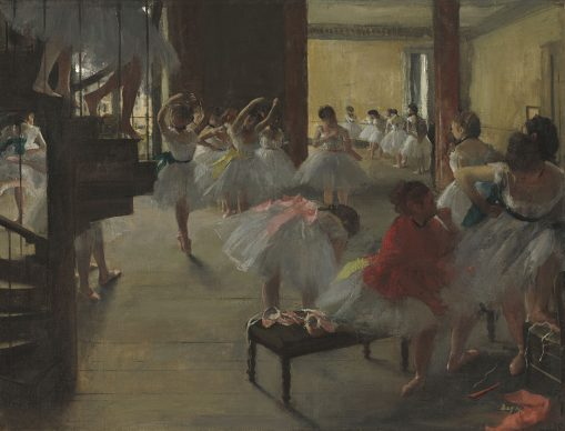 Edgar Degas, Der Tanzunterricht, um 1873, National Gallery of Art, Washington, Corcoran Collection (William A. Clark Collection)