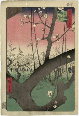 Utagawa Hiroshige, Kameido. Il giardino dei susini, dalla serie Cento vedute di luoghi celebri di Edo, 1857, Museum of Fine Arts, Boston - William Sturgis Bigelow Collection