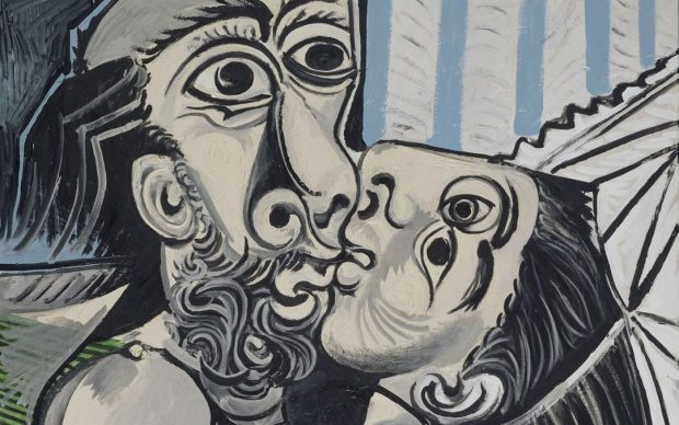 Pablo Picasso Le Baiser [Il bacio], 26 ottobre 1969 olio su tela, 97x130 cm Paris, Musée National Picasso Credito fotografico: © RMN-Grand Palais (Musée national Picasso-Paris) /Jean-Gilles Berizzi/ dist. Alinari Copyright: © Succession Picasso, by SIAE 2018