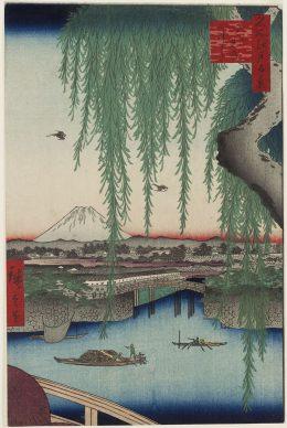 Utagawa Hiroshige, Il ponte di Yatsumi  dalla serie Cento vedute di luoghi celebri di Edo, 1856, Museum of Fine Arts, Boston - William Sturgis Bigelow Collection