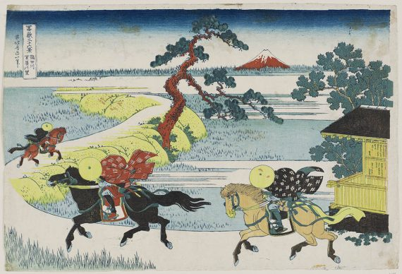 Katsushika Hokusai, Il villaggio di Sekiya sul fiume Sumida dalla serie Trentasei vedute del monte Fuji, 1830-31, Museum of Fine Arts, Boston - William Sturgis Bigelow Collection