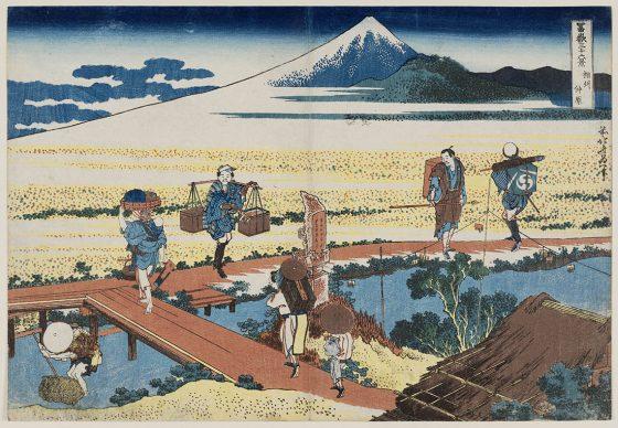 Katsushika Hokusai, Nakahara nella provincia di Sagami  dalla serie Trentasei vedute del monte Fuji, 1830-31, Museum of Fine Arts, Boston - William Sturgis Bigelow Collection