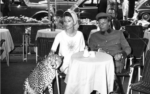 Deminich Irina Nick e ghepardo - via veneto (4) ©photo credits_Rino Barillari