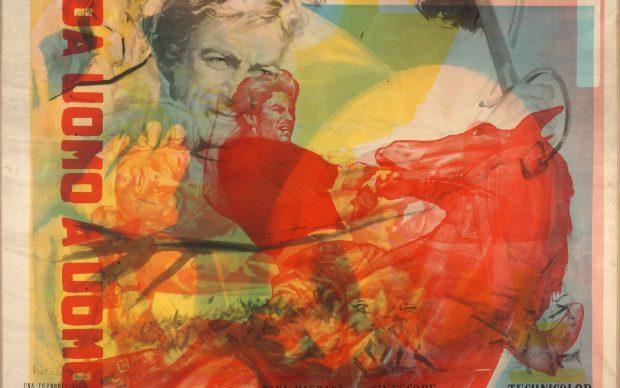 Mimmo Rotella, Da uomo a uomo, 1967, artypo su tela / on canvas 100 × 141 cm Collezione privata / private collection Photo Alessandro Zambianchi, Simply.it srl, Milano © 2018 Mimmo Rotella by SIAE