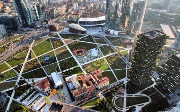 Biblioteca degli alberi a Milano, photo by Andrea Cherchi, via urbanfile.org