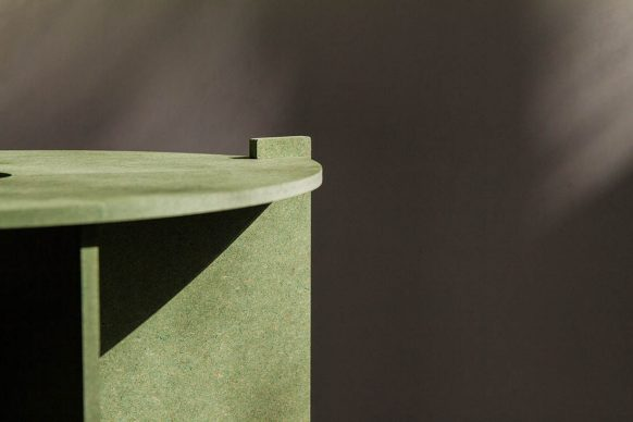 MPavilion 2018, stool designed by Carme Pinós of Estudio Carme Pinós
