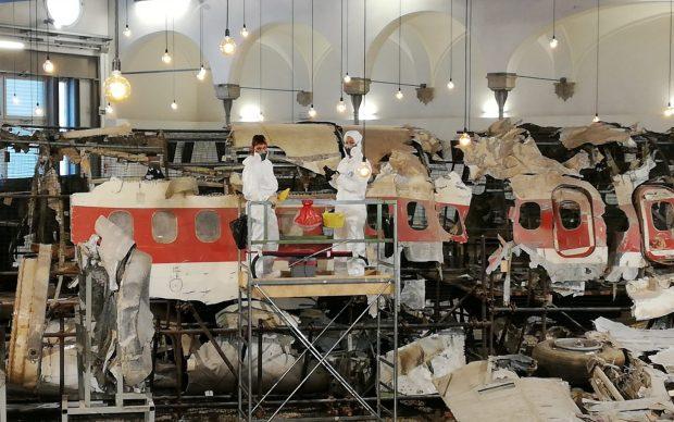 Museo Ustica restauro aereo studenti accademia belle arti bologna