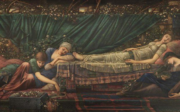 Edward Burne-Jones, The Rose Bower, 1885-1890, The Faringdon Collection Trust