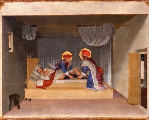 Fra Angelico, The Dream of Saint Justinian, c. 1438/40. Panel (poplar) 38 x 46,7 cm, Florence, Museo di San Marco © Florence, Gabinetto Fotografico delle Gallerie degli Uffizi