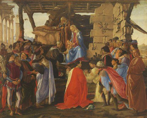 Sandro Botticelli, The Adoration of the Magi, c. 1475. Panel 111 x 143 cm, Florence, Galleria degli Uffizi © Florence, Gabinetto Fotografico degli Uffizi